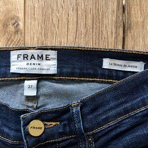Frame Denim Jeans - FRAME Le Skinny de Jeanne Jeans Like New Sz 27
